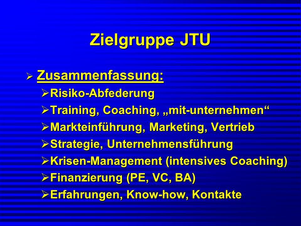 Zielgruppe JTU Zusammenfassung: Risiko-Abfederung