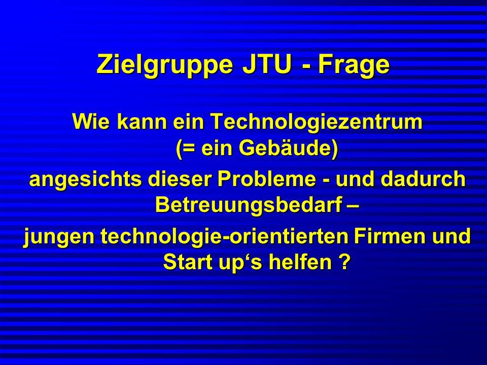 Zielgruppe JTU - Frage Wie kann ein Technologiezentrum (= ein Gebäude)