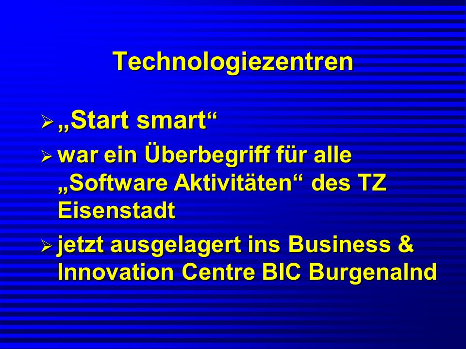 "Technologiezentren ""Start smart"