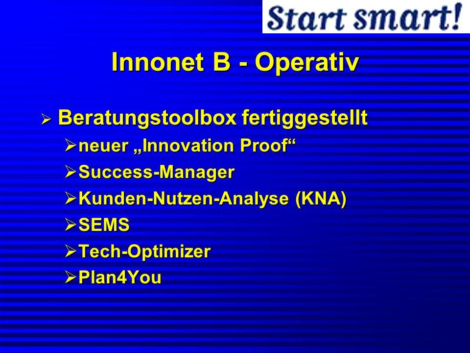 Innonet B - Operativ Beratungstoolbox fertiggestellt