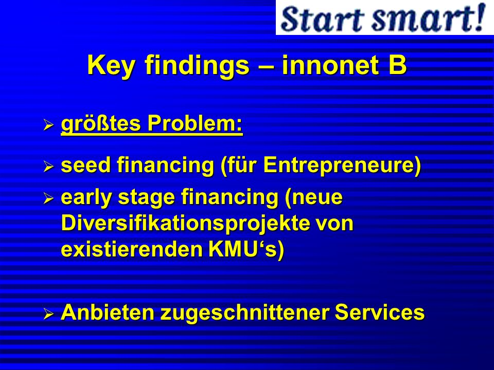 Key findings – innonet B