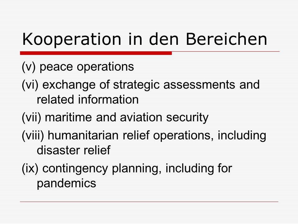 Kooperation in den Bereichen