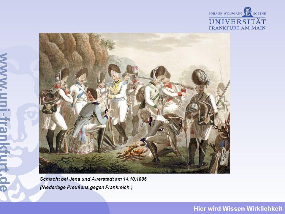 Schlacht bei Jena und Auerstedt am 14.10.1806