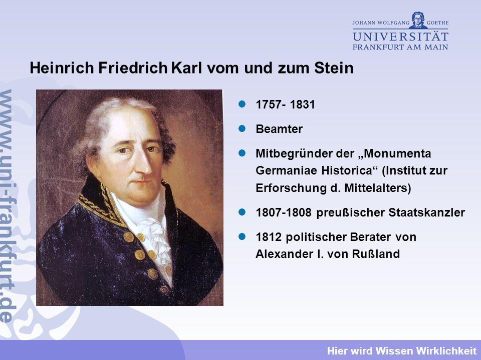 Heinrich Friedrich Karl vom und zum Stein