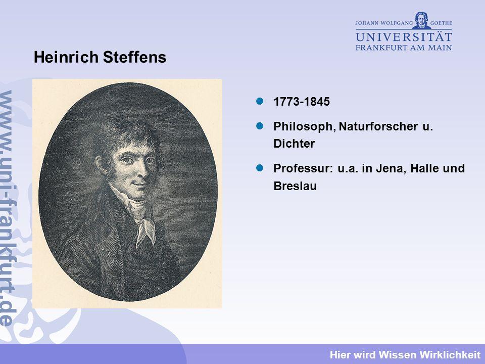 Heinrich Steffens 1773-1845 Philosoph, Naturforscher u. Dichter