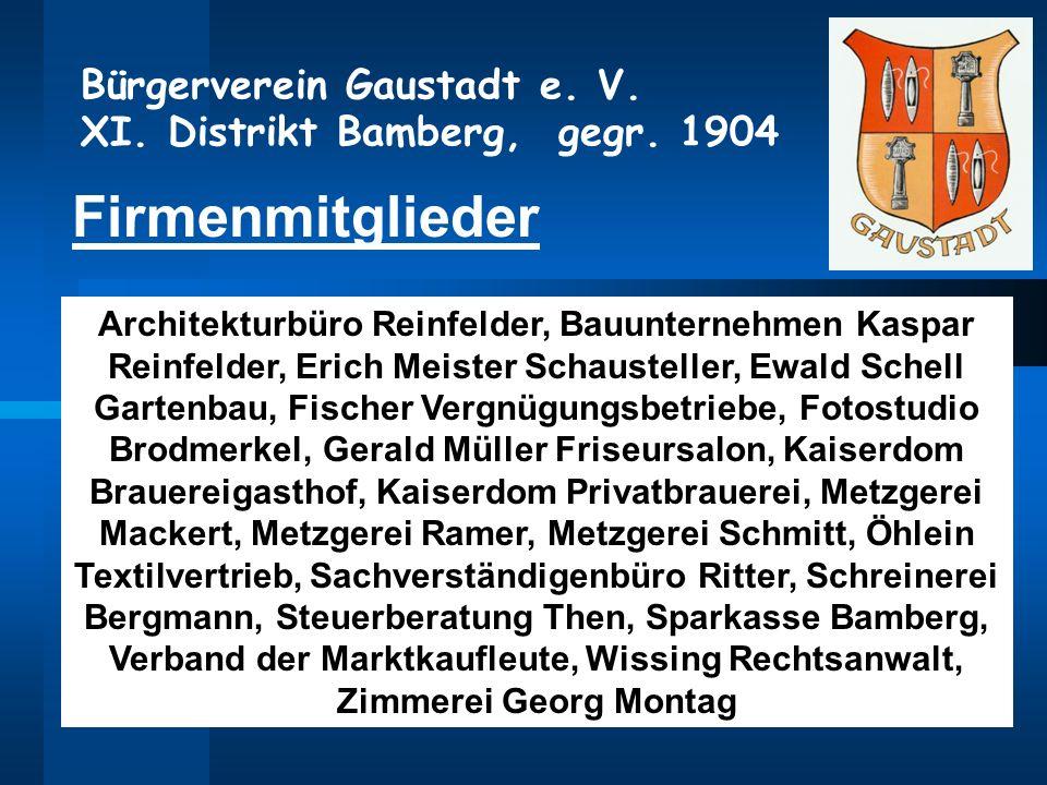 Bauunternehmen Bamberg bürgerverein gaustadt e v xi distrikt bamberg gegr ppt herunterladen