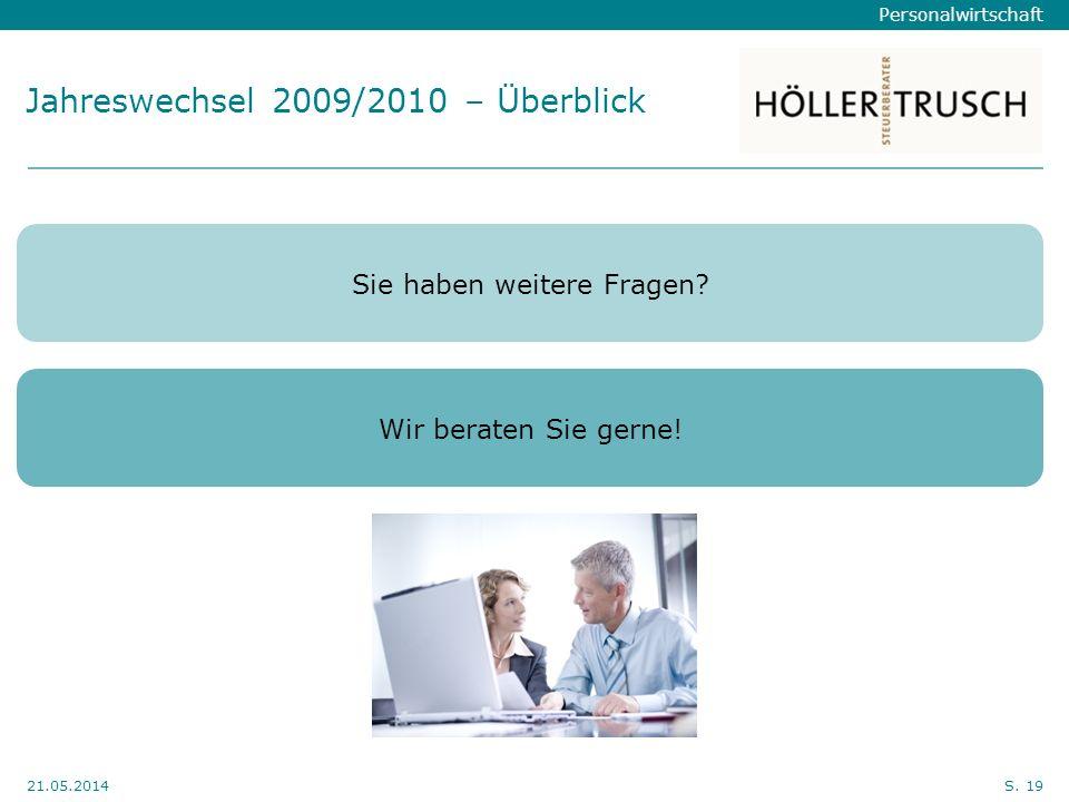 Jahreswechsel 2009/2010 – Überblick