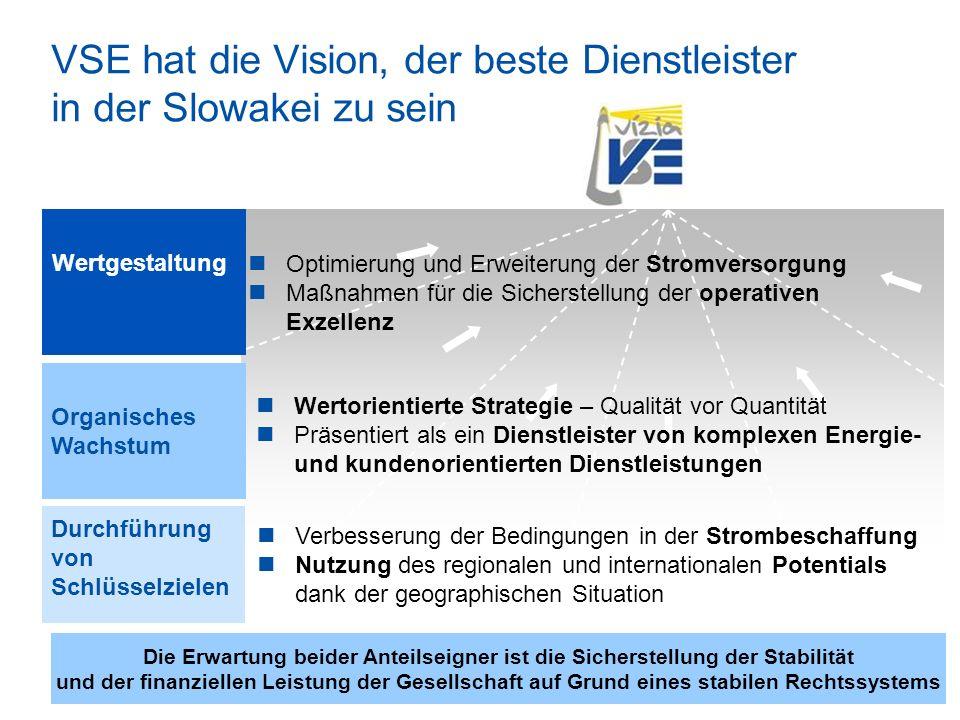 VSE hat die Vision, der beste Dienstleister in der Slowakei zu sein