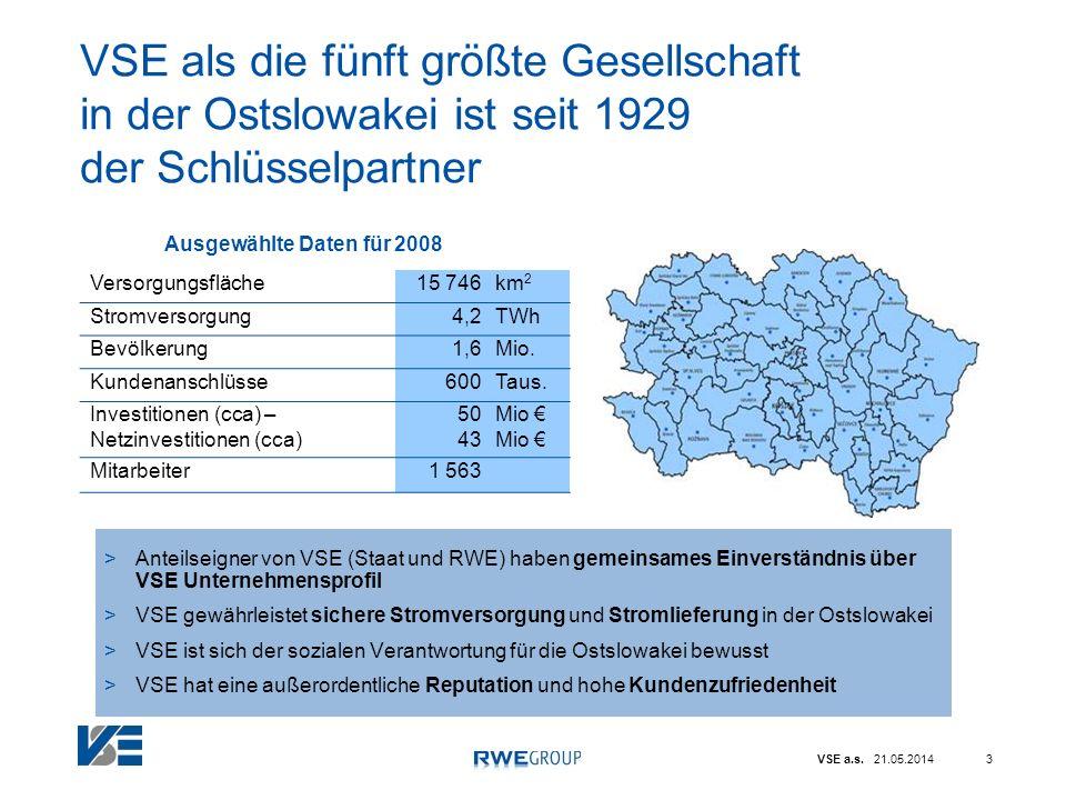 VSE als die fünft größte Gesellschaft in der Ostslowakei ist seit 1929 der Schlüsselpartner