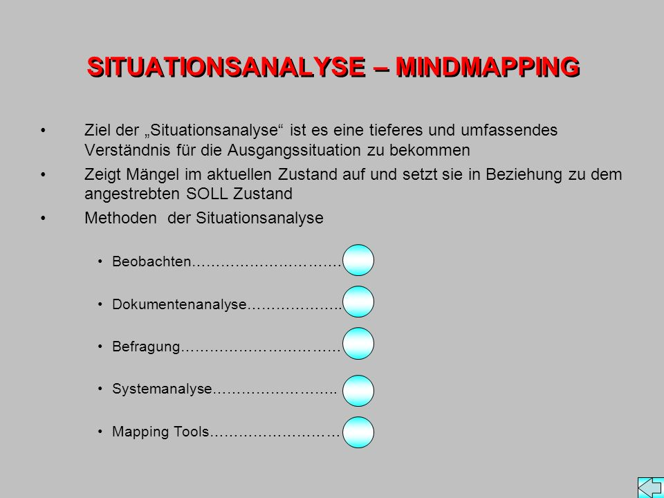 SITUATIONSANALYSE – MINDMAPPING