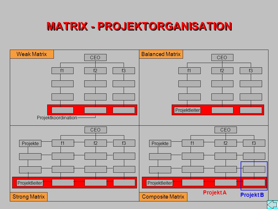 MATRIX - PROJEKTORGANISATION