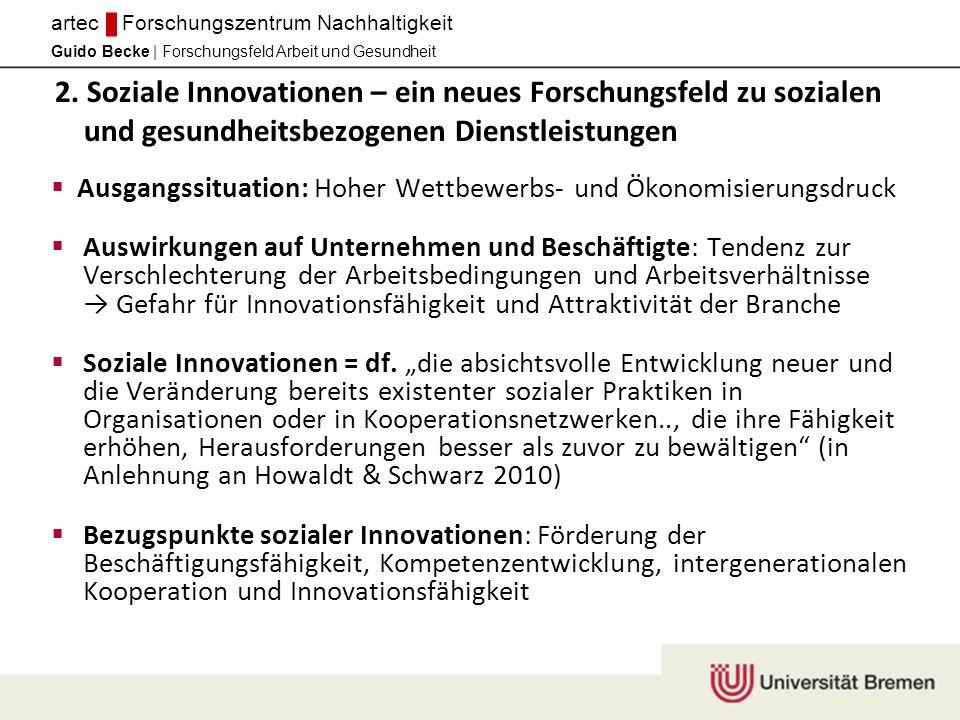 2. Soziale Innovationen – ein neues Forschungsfeld zu sozialen und gesundheitsbezogenen Dienstleistungen