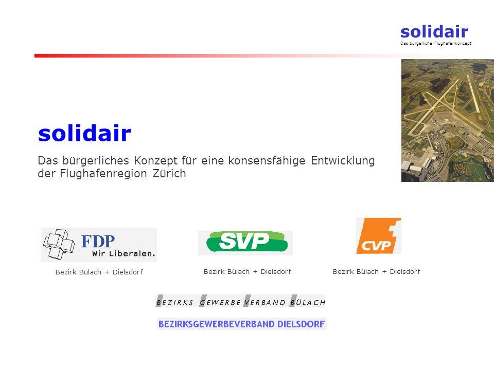 solidair Das bürgerliches Konzept für eine konsensfähige Entwicklung der Flughafenregion Zürich.