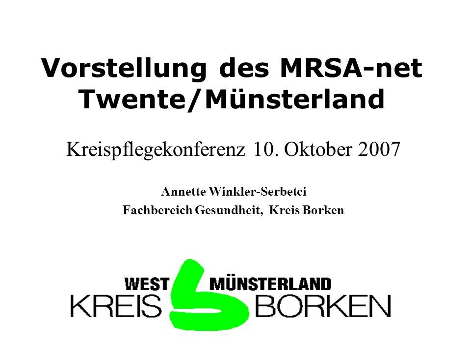 Vorstellung des MRSA-net Twente/Münsterland