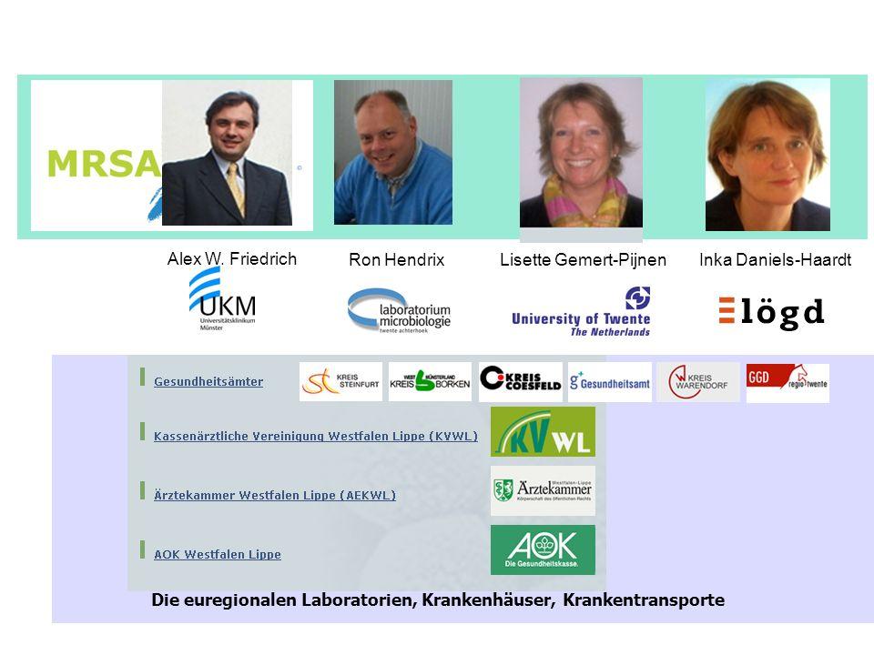 Die euregionalen Laboratorien, Krankenhäuser, Krankentransporte
