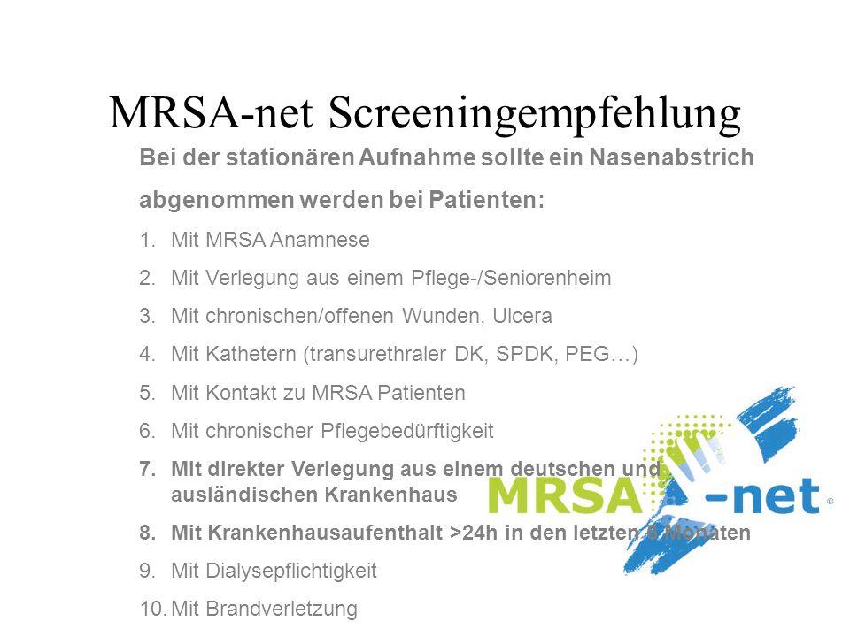 MRSA-net Screeningempfehlung
