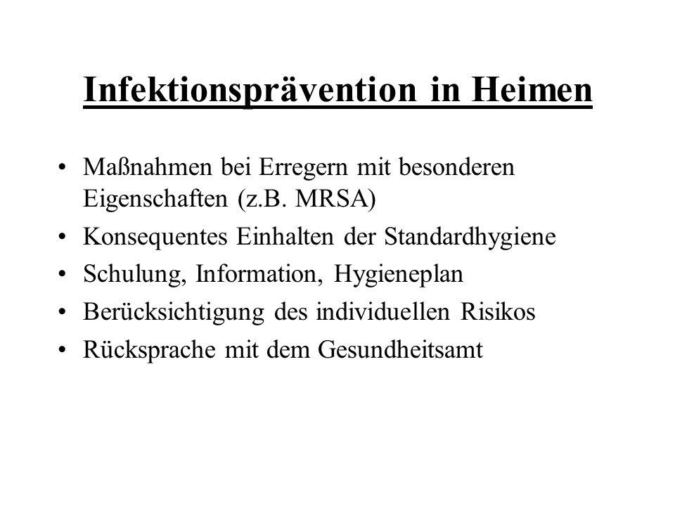 Infektionsprävention in Heimen