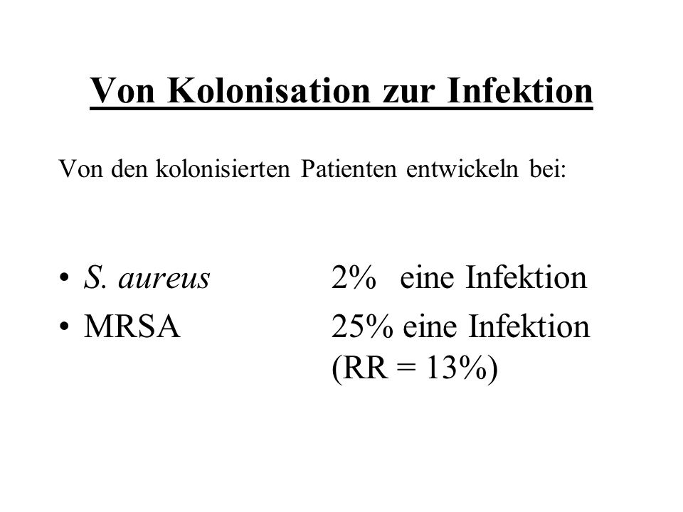 Von Kolonisation zur Infektion