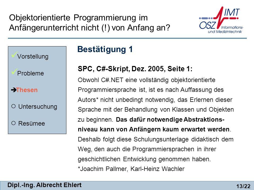 SPC, C#-Skript, Dez. 2005, Seite 1: