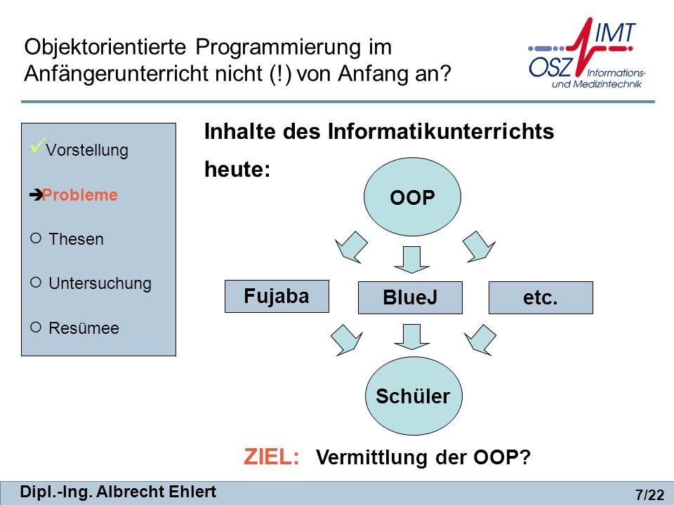 Inhalte des Informatikunterrichts