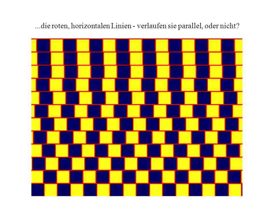 ...die roten, horizontalen Linien - verlaufen sie parallel, oder nicht