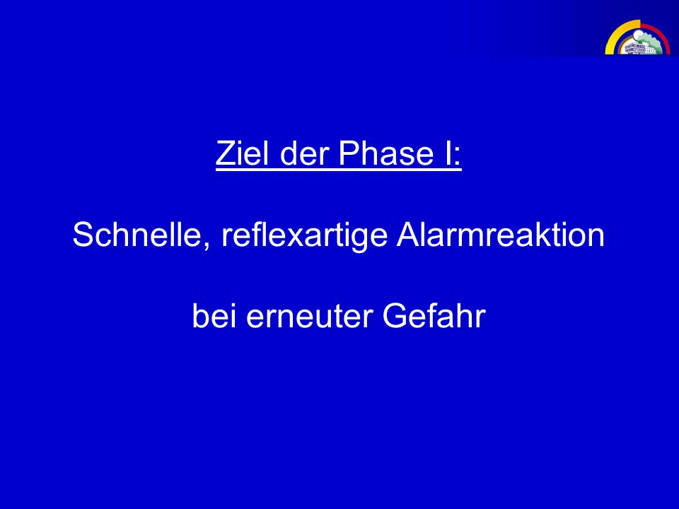 Schnelle, reflexartige Alarmreaktion