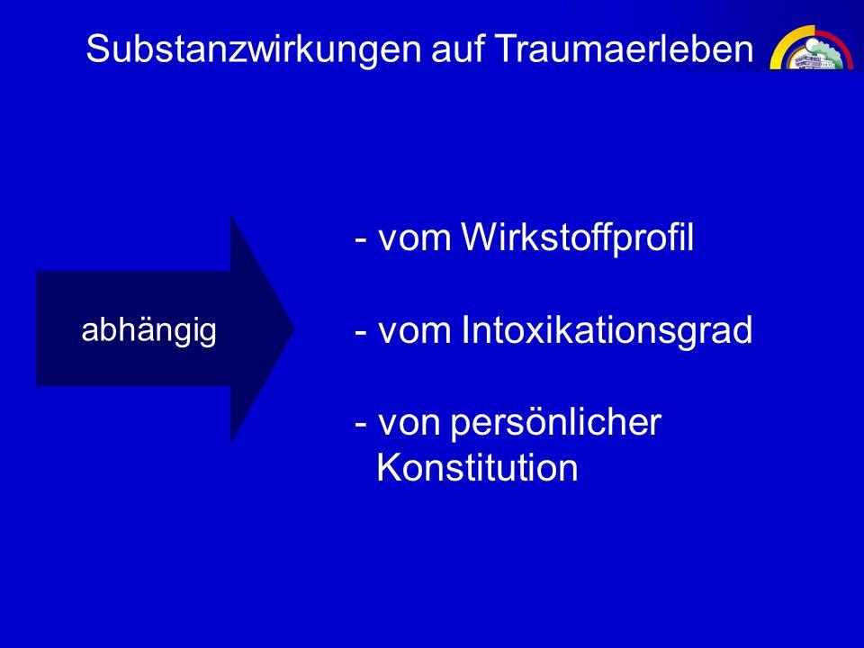 Substanzwirkungen auf Traumaerleben