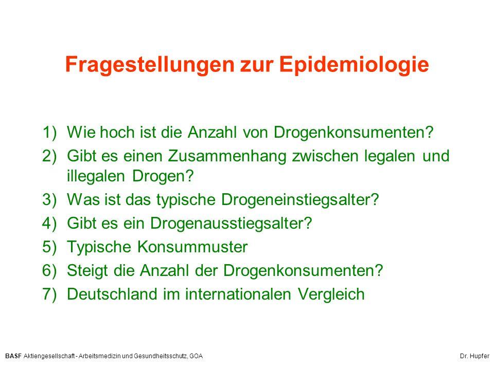 Fragestellungen zur Epidemiologie