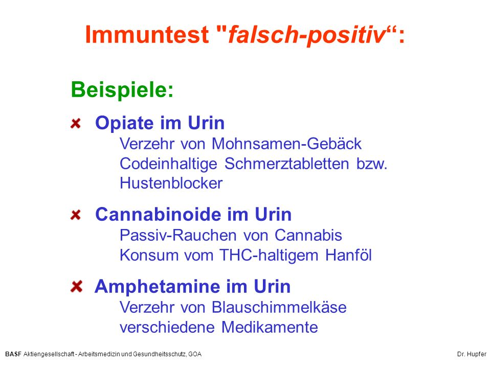 Immuntest falsch-positiv :