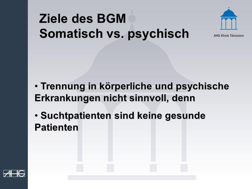 Somatisch vs. psychisch