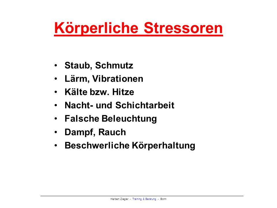 Körperliche Stressoren
