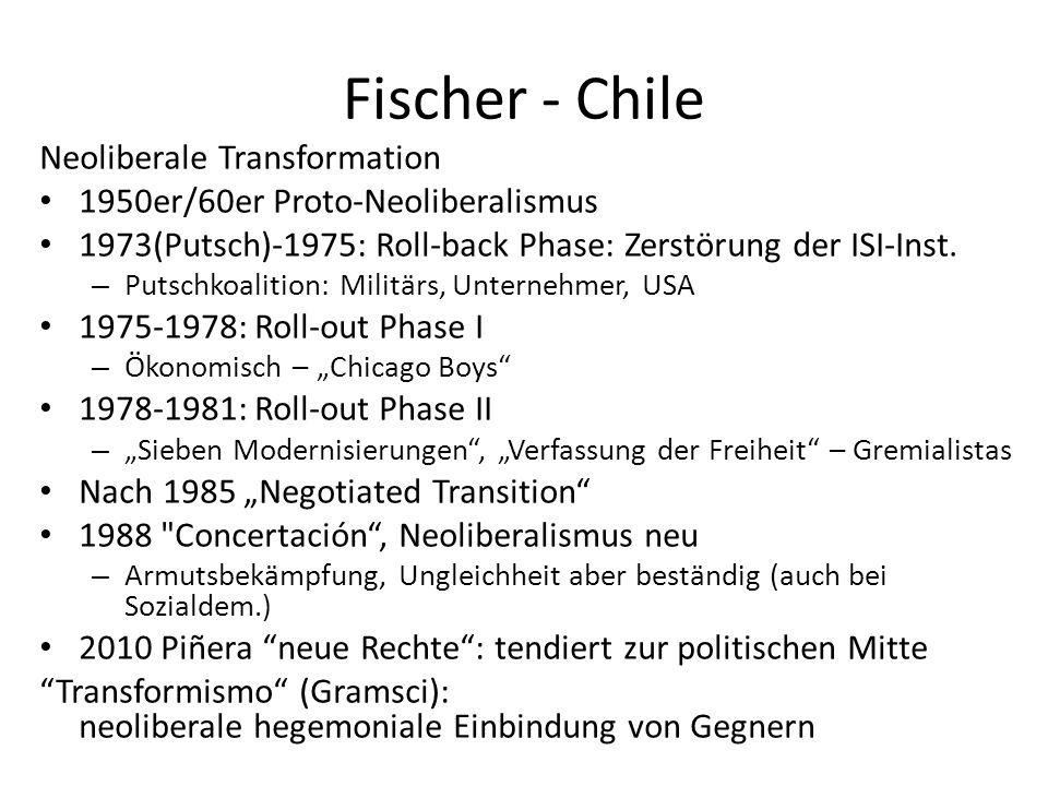 Fischer - Chile Neoliberale Transformation