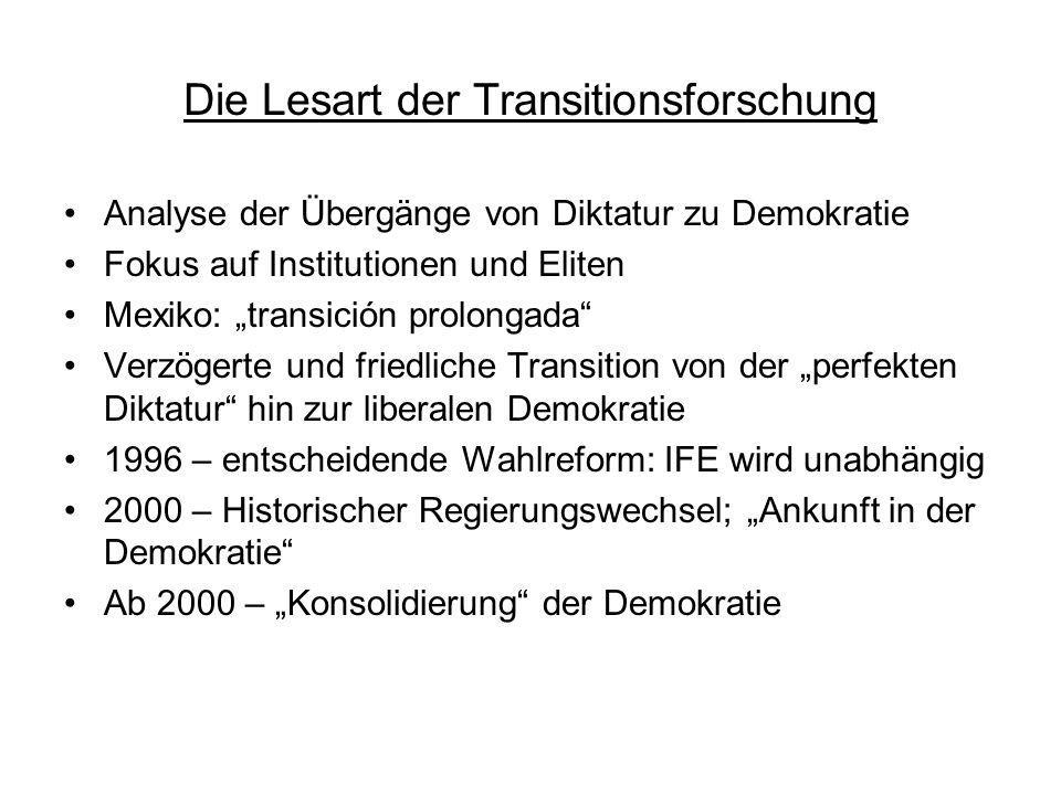 Die Lesart der Transitionsforschung