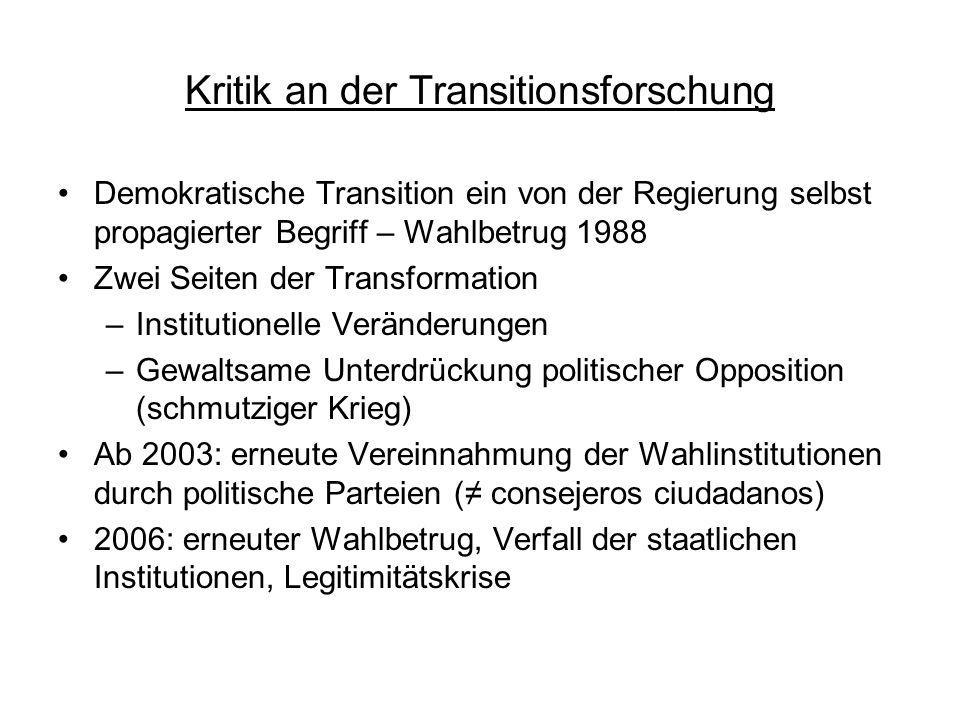Kritik an der Transitionsforschung