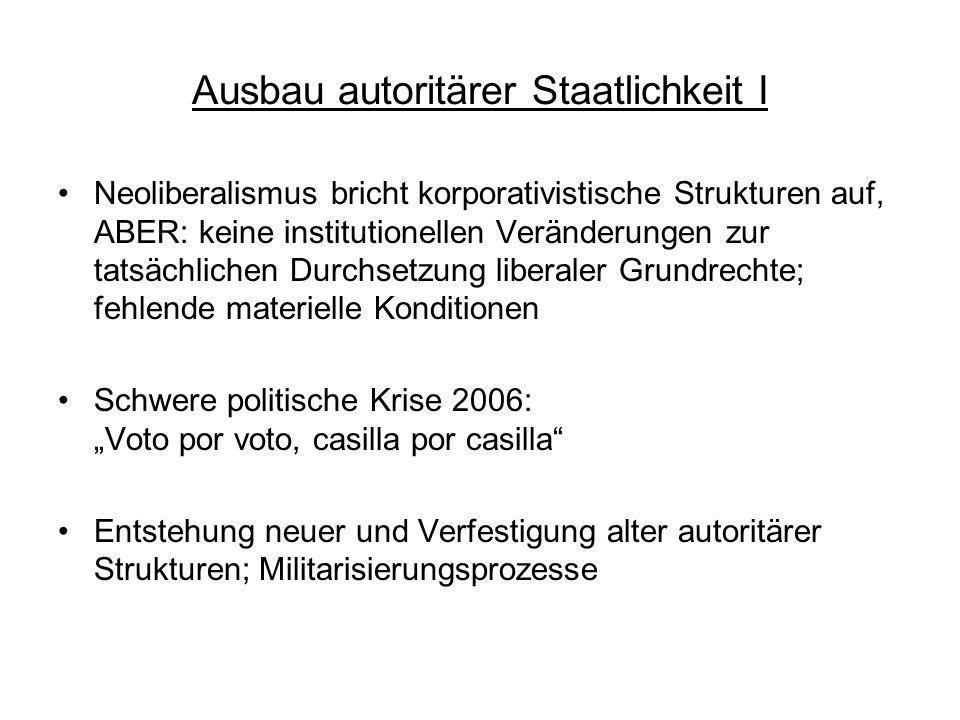 Ausbau autoritärer Staatlichkeit I