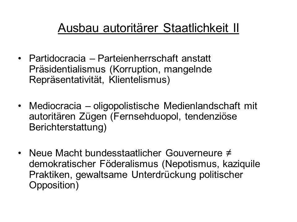 Ausbau autoritärer Staatlichkeit II