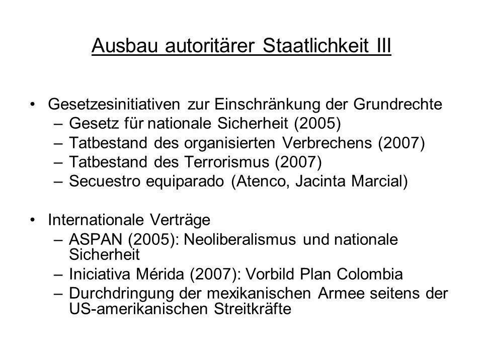Ausbau autoritärer Staatlichkeit III