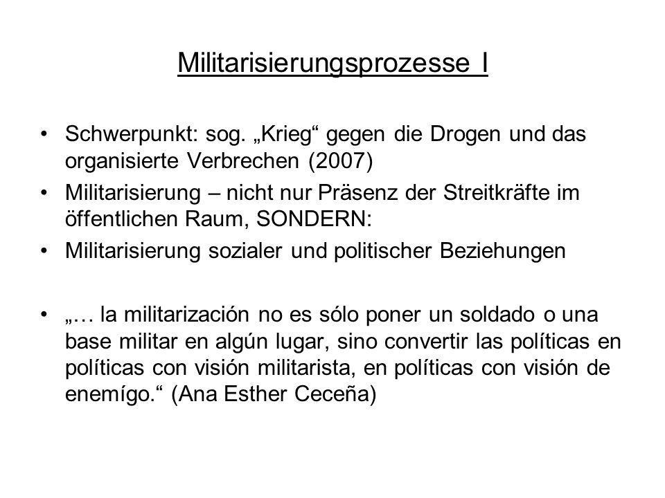 Militarisierungsprozesse I