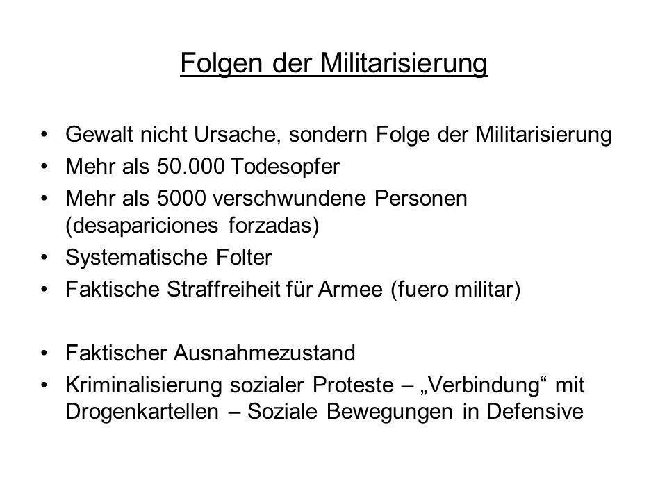 Folgen der Militarisierung