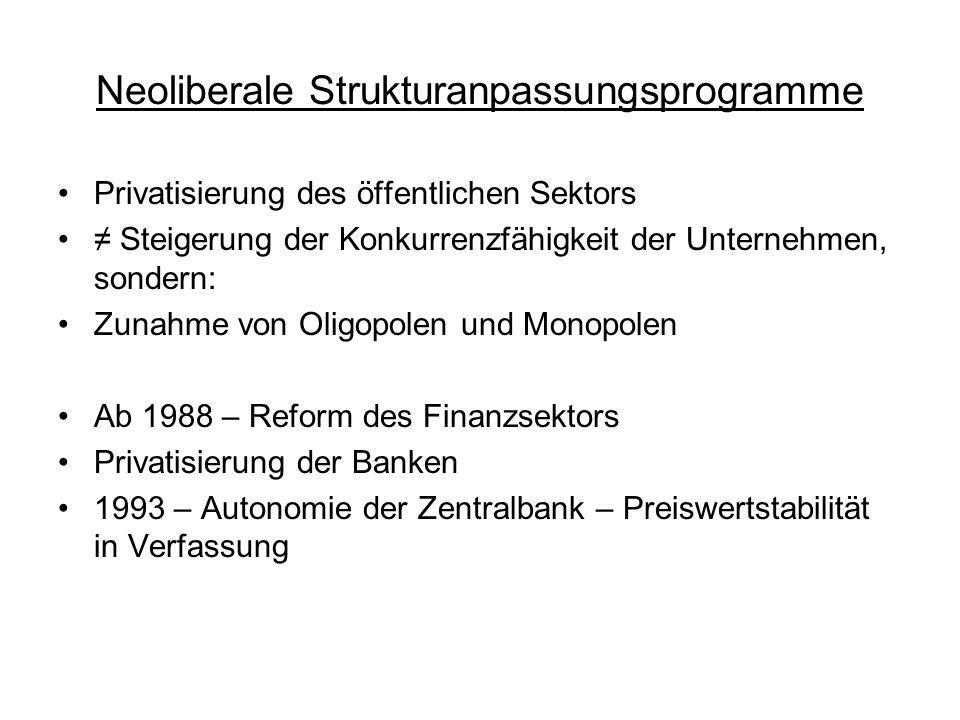 Neoliberale Strukturanpassungsprogramme