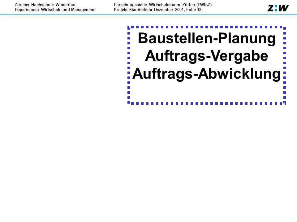 Baustellen-Planung Auftrags-Vergabe Auftrags-Abwicklung