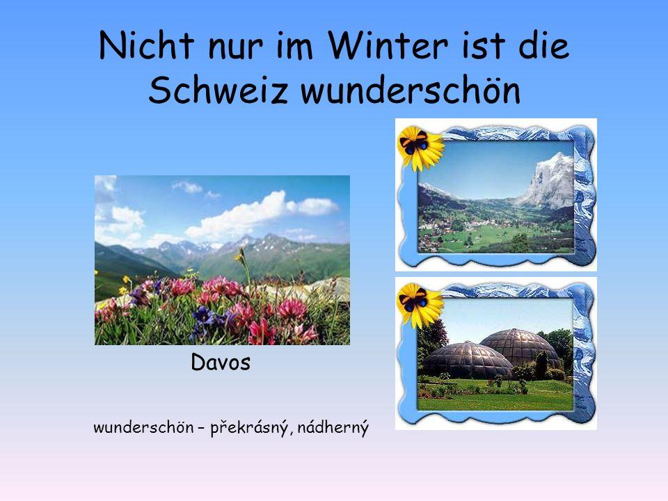 Nicht nur im Winter ist die Schweiz wunderschön