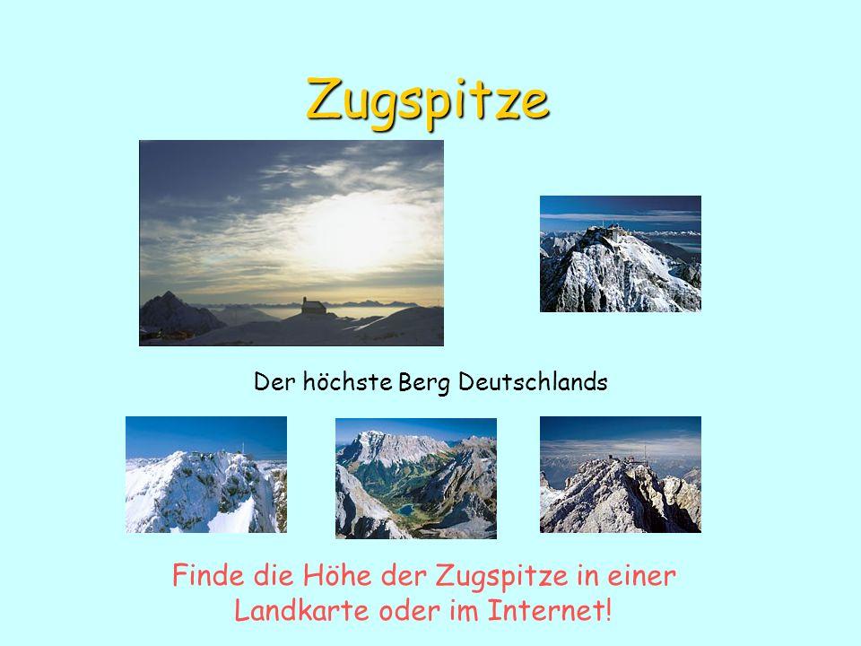 Zugspitze Der höchste Berg Deutschlands.