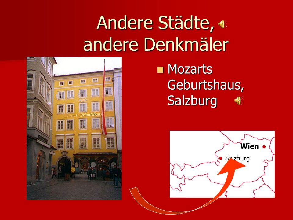 Andere Städte, andere Denkmäler