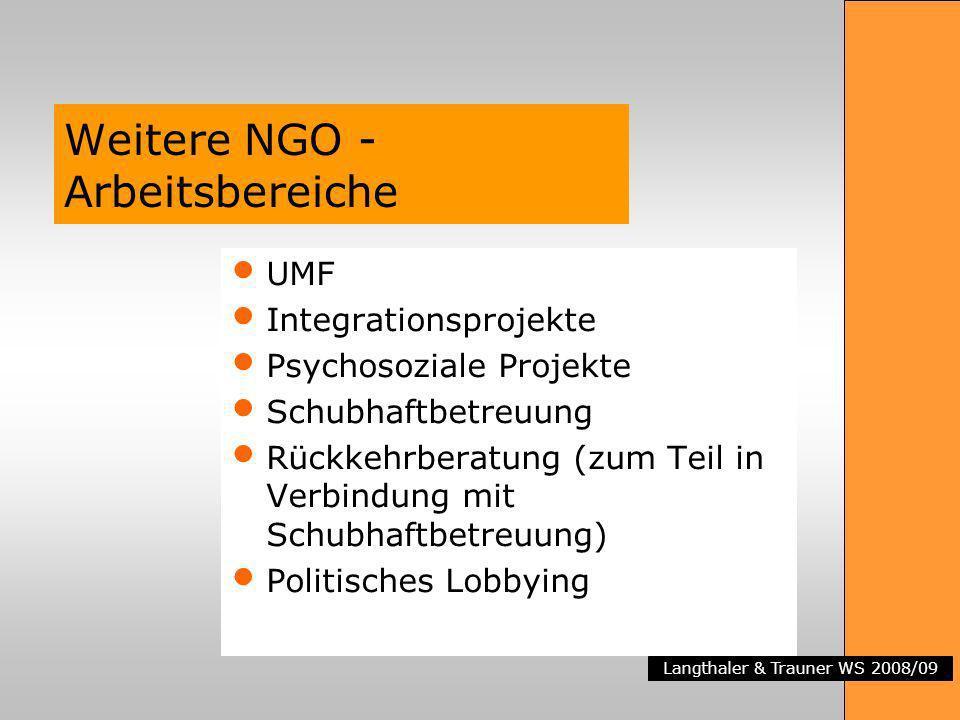 Weitere NGO -Arbeitsbereiche
