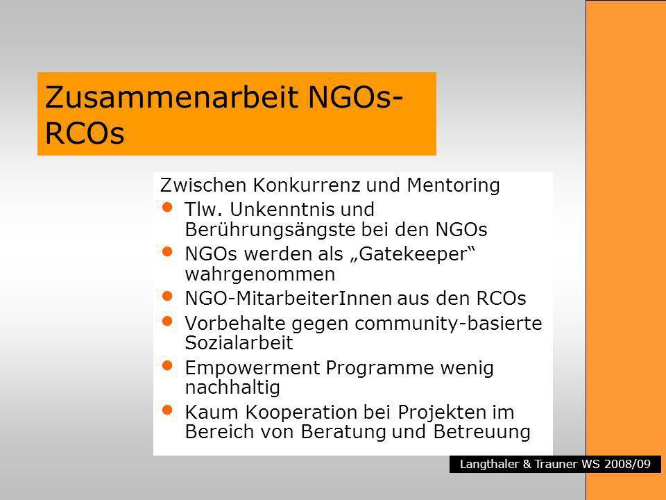 Zusammenarbeit NGOs-RCOs