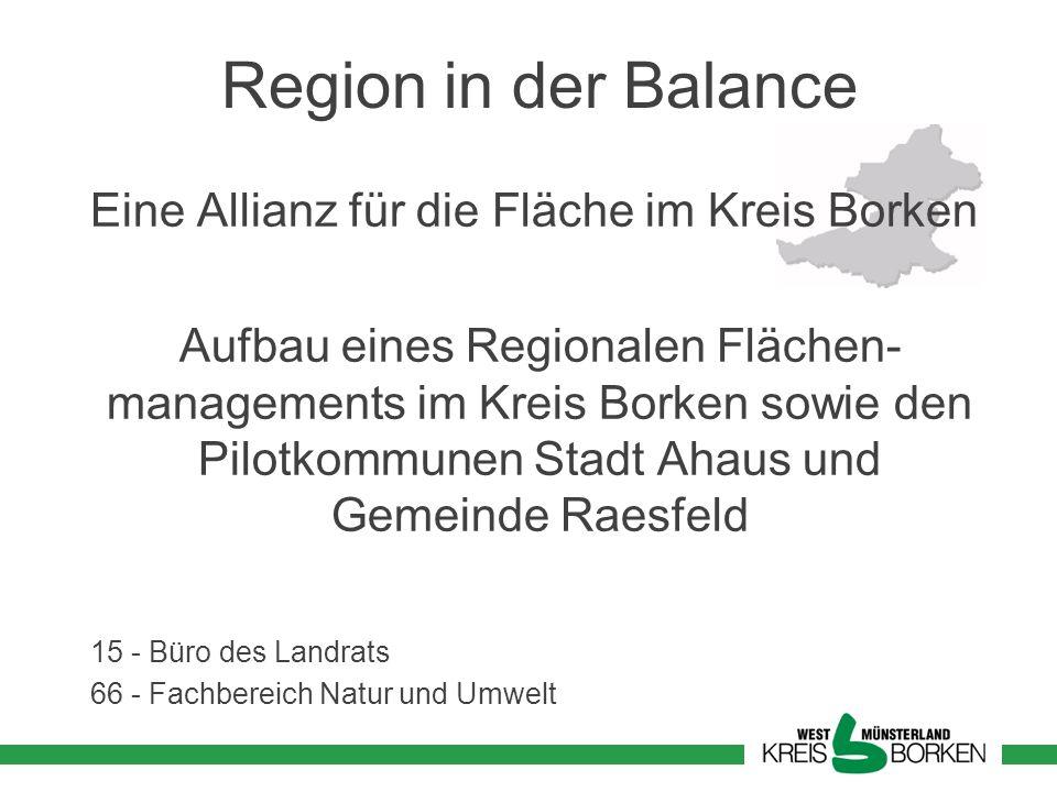 Region in der Balance Eine Allianz für die Fläche im Kreis Borken