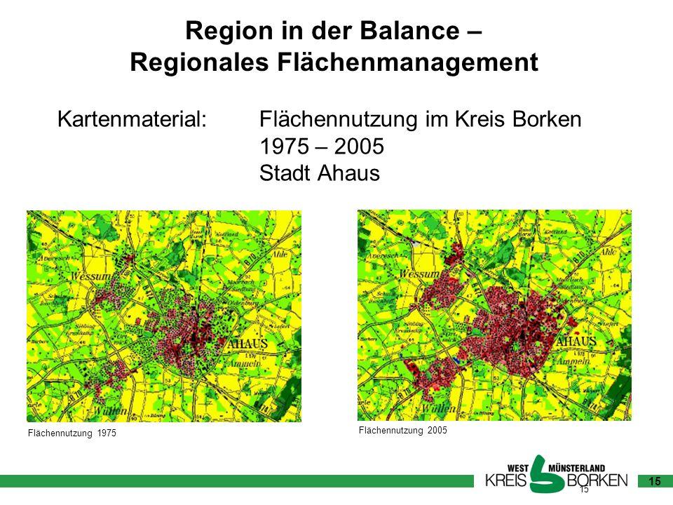 Kartenmaterial: Flächennutzung im Kreis Borken 1975 – 2005 Stadt Ahaus