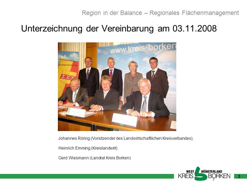 Unterzeichnung der Vereinbarung am 03.11.2008