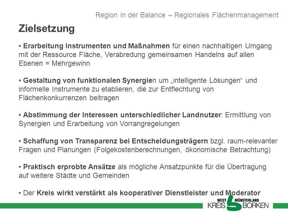 Zielsetzung Region in der Balance – Regionales Flächenmanagement